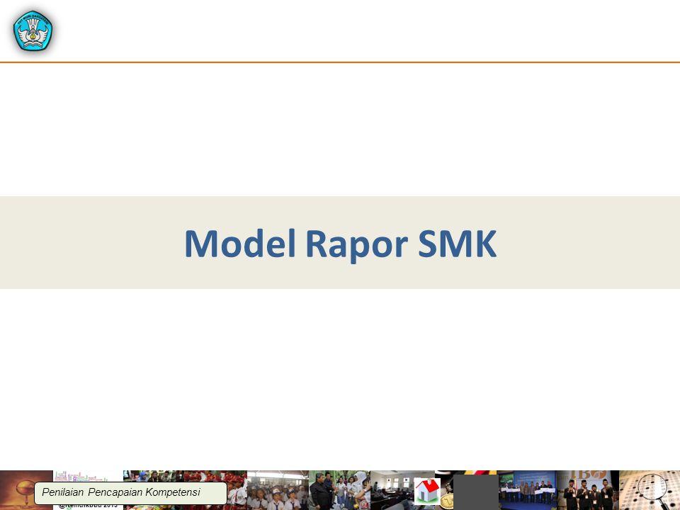 Model Rapor SMK Penilaian Pencapaian Kompetensi
