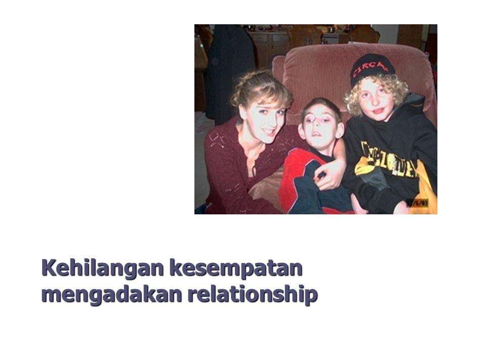 Kehilangan kesempatan mengadakan relationship