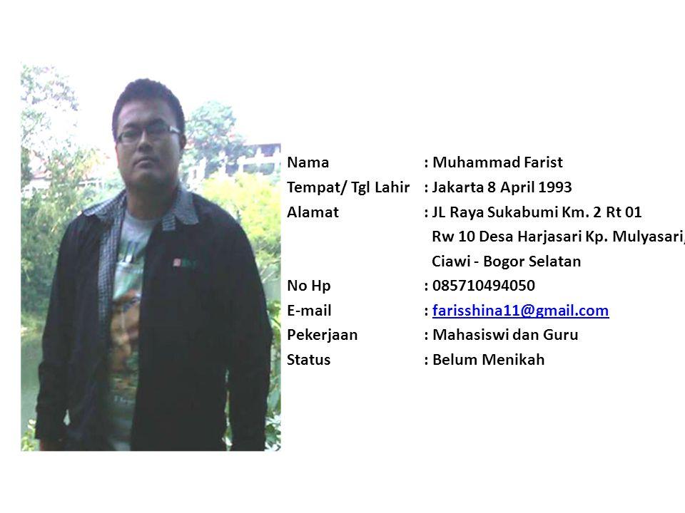 Nama: Desi Jayanti Tempat/ Tgl Lahir: Tangerang, 4 Desember 1992 Alamat: Jalan H.