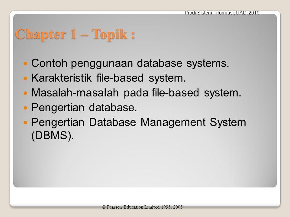 Prodi Sistem Informasi, UAD, 2010 Perintah SQL Data definition language (DDL).
