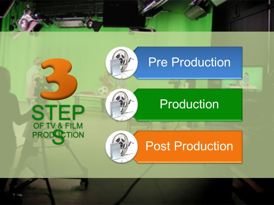 STEP S Pre Production Production Post Production OF TV & FILM PRODUCTION