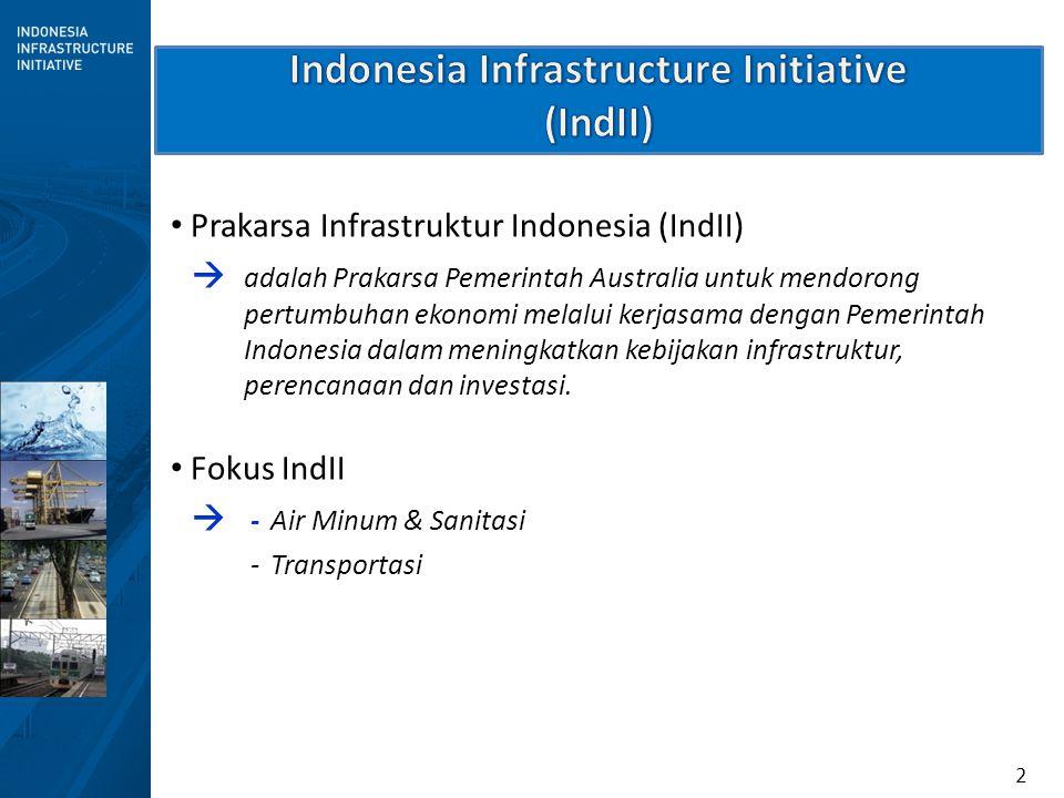 2 Prakarsa Infrastruktur Indonesia (IndII)  adalah Prakarsa Pemerintah Australia untuk mendorong pertumbuhan ekonomi melalui kerjasama dengan Pemerin
