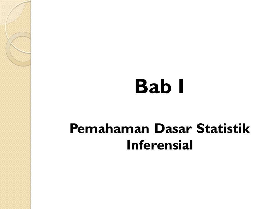 Bab I Pemahaman Dasar Statistik Inferensial
