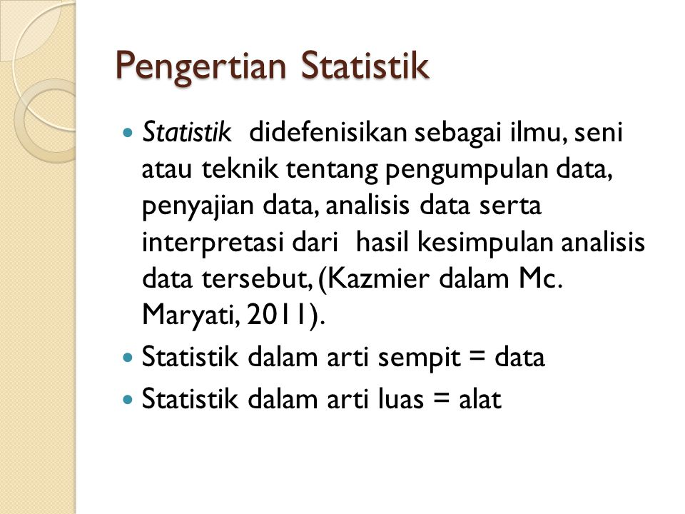 Pengenalan Statistik pada MS Excel dan SPSS Instalasi Analysis Toolpak pada MS Excel.