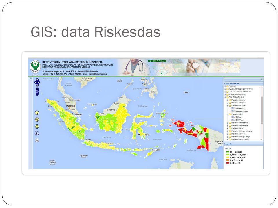 GIS: data Riskesdas
