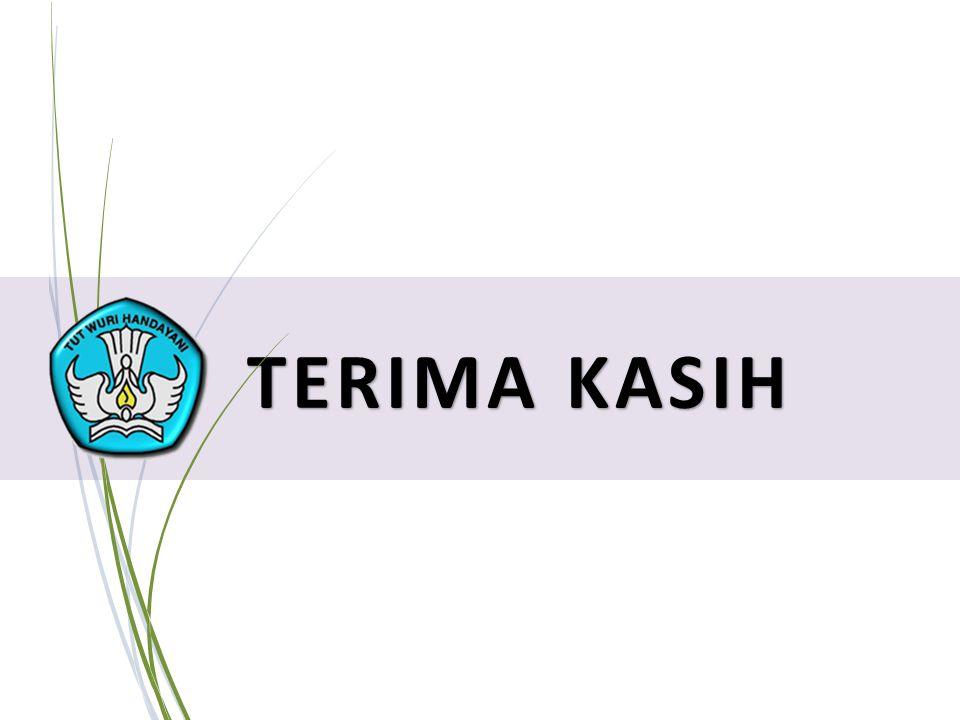 19 PELATIHAN IMPLEMENTASI KURIKULUM 2013 TERIMA KASIH
