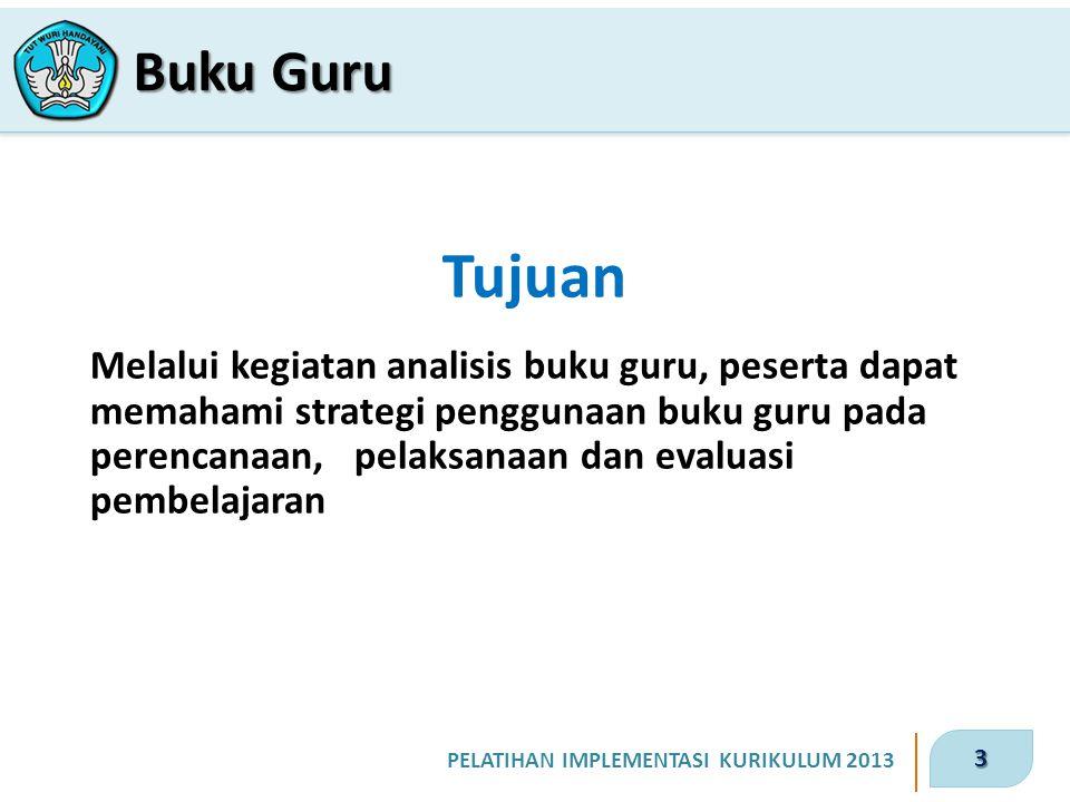 4 PELATIHAN IMPLEMENTASI KURIKULUM 2013 1.Siapkan dokumen Kompetensi Dasar, Permendikbud nomor 104 tahun 2014, buku guru dan buku siswa.