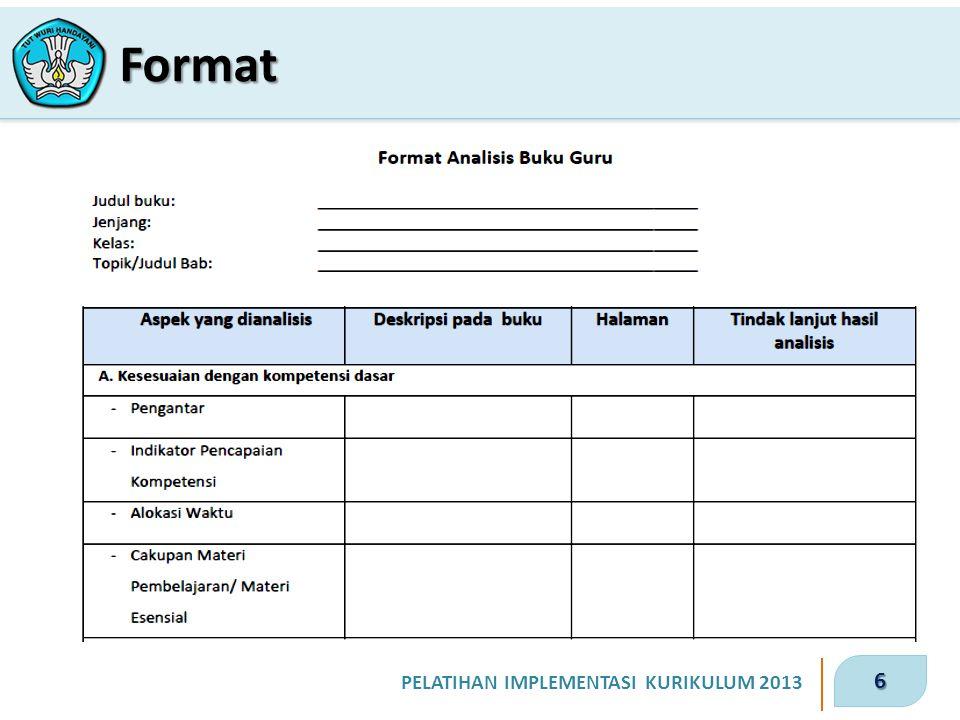 6 PELATIHAN IMPLEMENTASI KURIKULUM 2013 Format