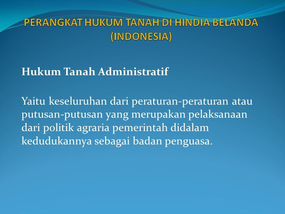 Hukum Agraria Swapraja Yaitu keseluruhan dari kaidah-kaidah Hukum Agraria yang bersumber pada peraturan- peraturan tentang tanah di daerah-daerah swapraja (Yogyakarta, Aceh), yang memberikan pengaturan tanah-tanah di wilayah daerah- daerah swapraja yang bersangkutan.