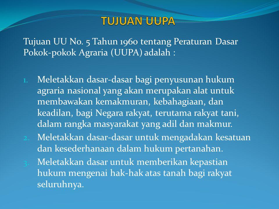 Asas Kenasionalan Yaitu merupakan hubungan antara Bangsa Indonesia dengan bumi, air, dan ruang angkasa Indonesia yang bersifat abadi.