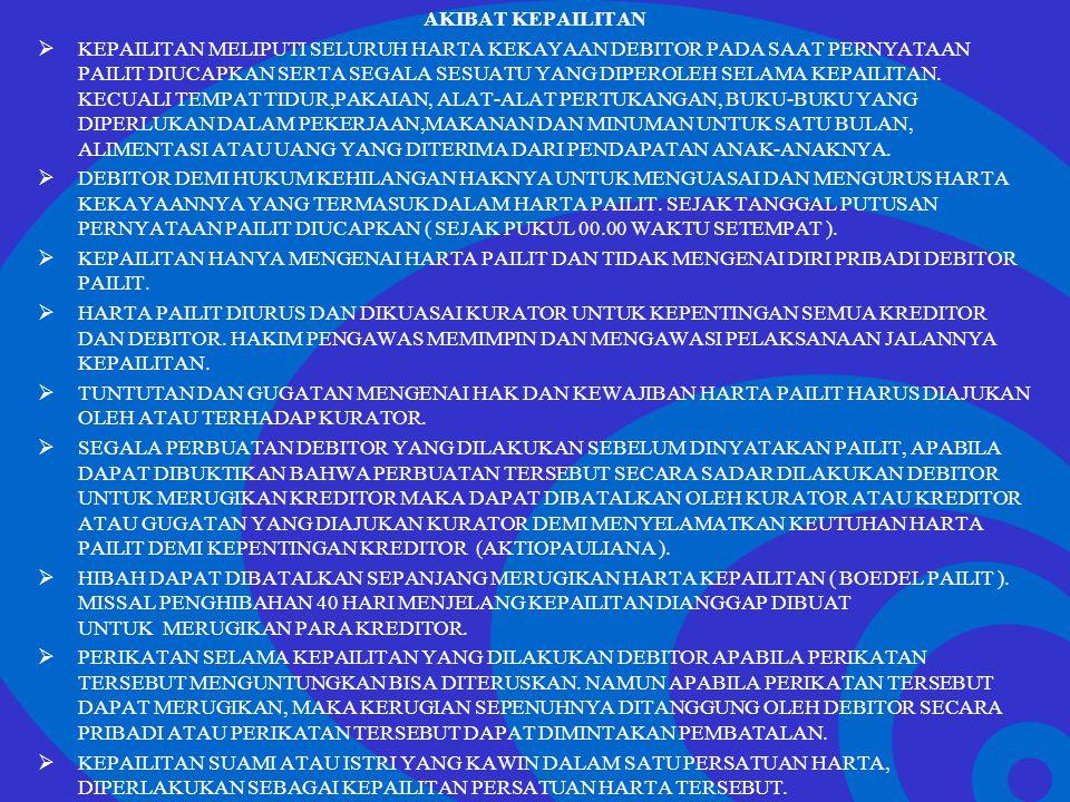 Click to edit Master text styles –Second level Third level –Fourth level »Fifth level AKIBAT KEPAILITAN  KEPAILITAN MELIPUTI SELURUH HARTA KEKAYAAN D