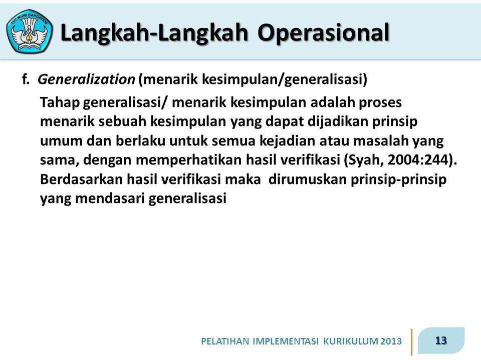 13 PELATIHAN IMPLEMENTASI KURIKULUM 2013 f.