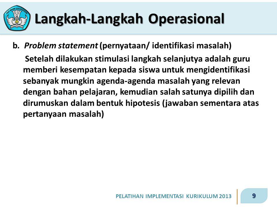 10 PELATIHAN IMPLEMENTASI KURIKULUM 2013 c.