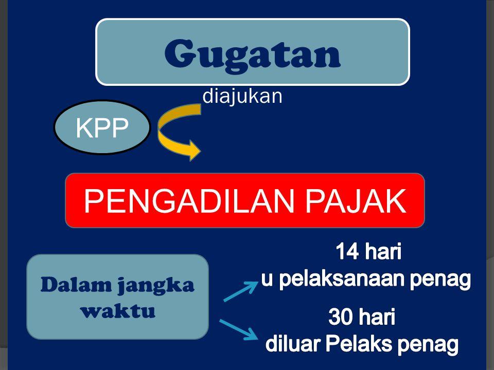 diajukan Gugatan PENGADILAN PAJAK KPP Dalam jangka waktu
