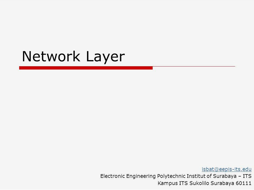 Network Layer isbat@eepis-its.edu Electronic Engineering Polytechnic Institut of Surabaya – ITS Kampus ITS Sukolilo Surabaya 60111