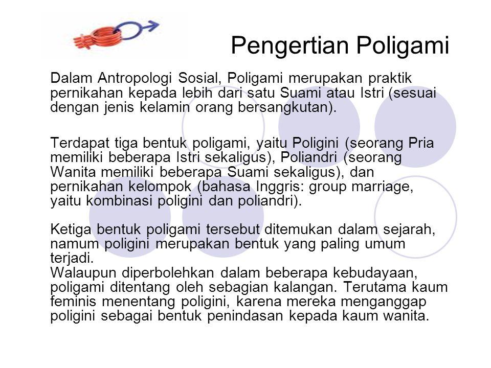 Kasus Poligami Kasus yang cukup fenomenal terjadi yakni mengenai seorang kyai Hj.