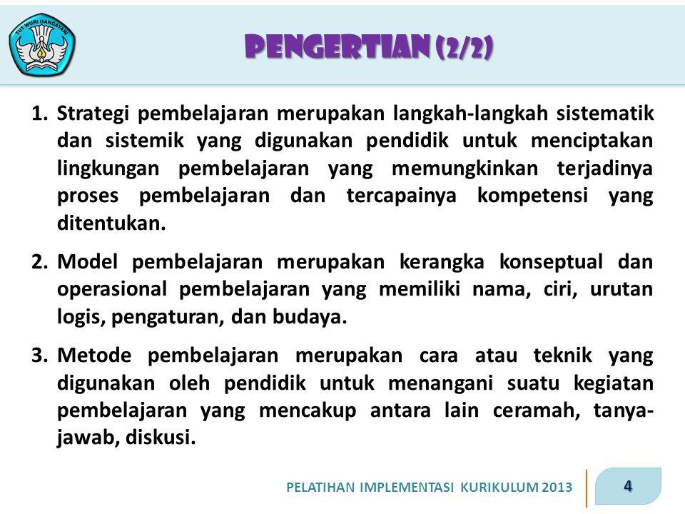 25 PELATIHAN IMPLEMENTASI KURIKULUM 2013 5.