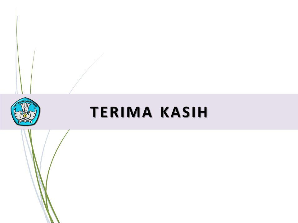 41 PELATIHAN IMPLEMENTASI KURIKULUM 2013 TERIMA KASIH