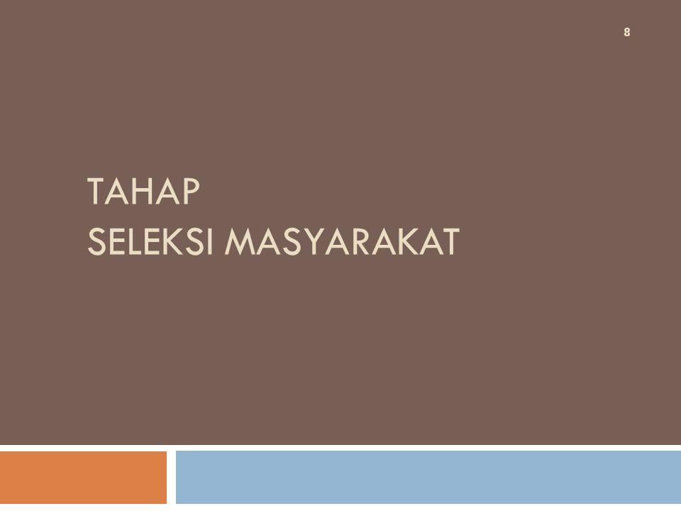 TAHAP SELEKSI MASYARAKAT 8