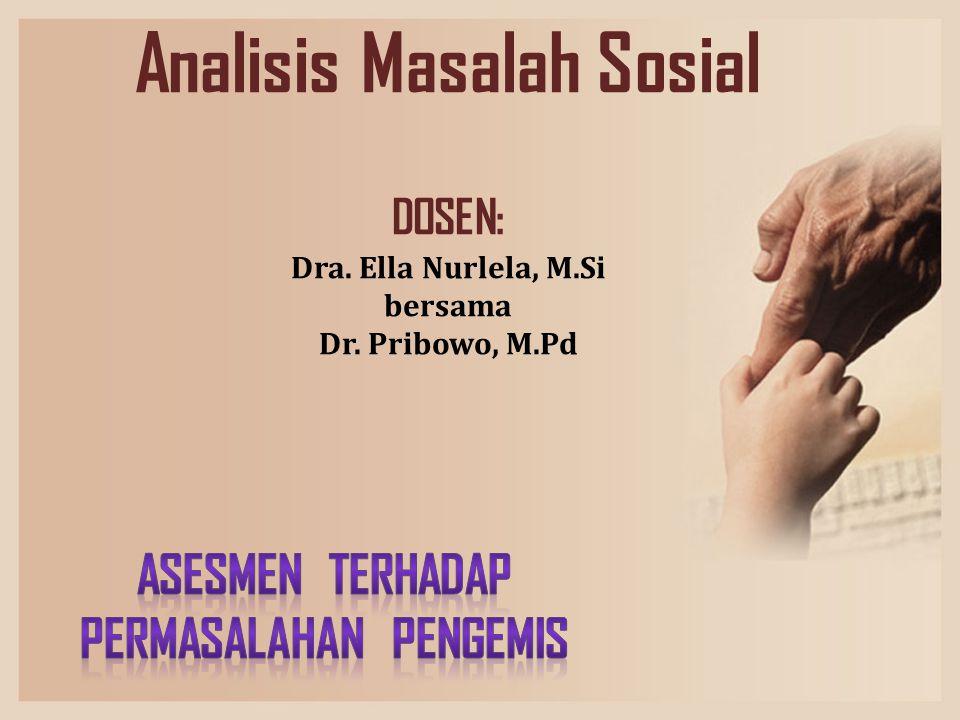 Analisis Masalah Sosial DOSEN: Dra. Ella Nurlela, M.Si bersama Dr. Pribowo, M.Pd