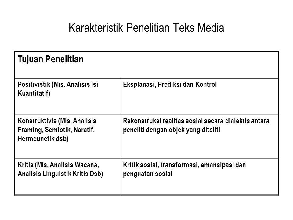 Posisi Peneliti Positivistik (Mis.