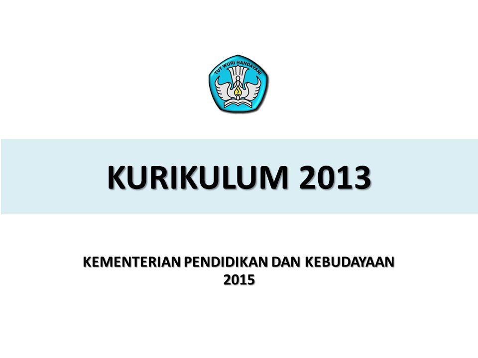 1 PELATIHAN IMPLEMENTASI KURIKULUM 2013 2015 KURIKULUM 2013 KEMENTERIAN PENDIDIKAN DAN KEBUDAYAAN