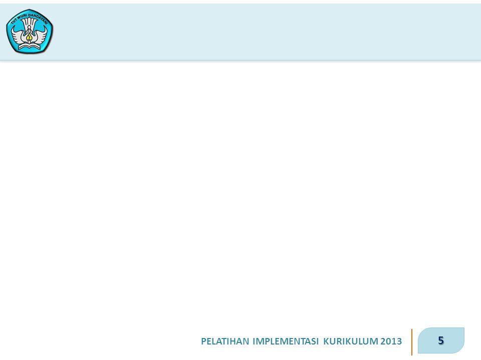 5 PELATIHAN IMPLEMENTASI KURIKULUM 2013