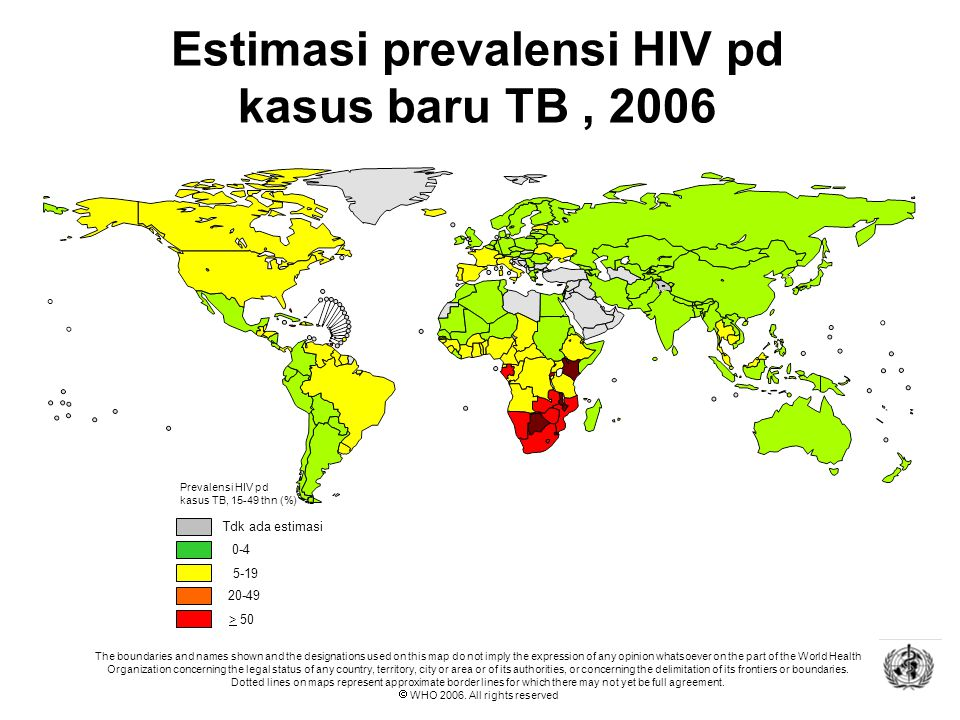 HIV ART CARE SUPPORT AND TREATMENT HIV ART CARE SUPPORT HIV ART CARE HIV Epidemiologi ko-infeksi TB-HIV 3,2 juta koinfeksi TB-HIV terdapat di Asia Sel