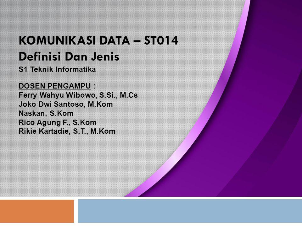 Konfigurasi Pin RS-232 12 PC to PC DB-9 Pin Configuration Komunikasi Data - S1 Teknik Informatika (ST014)