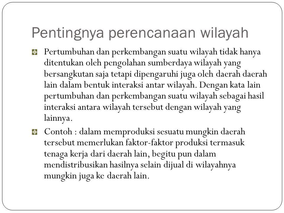 Jabarkan beberapa Istilah dalam Perencanaan wilayah 1.