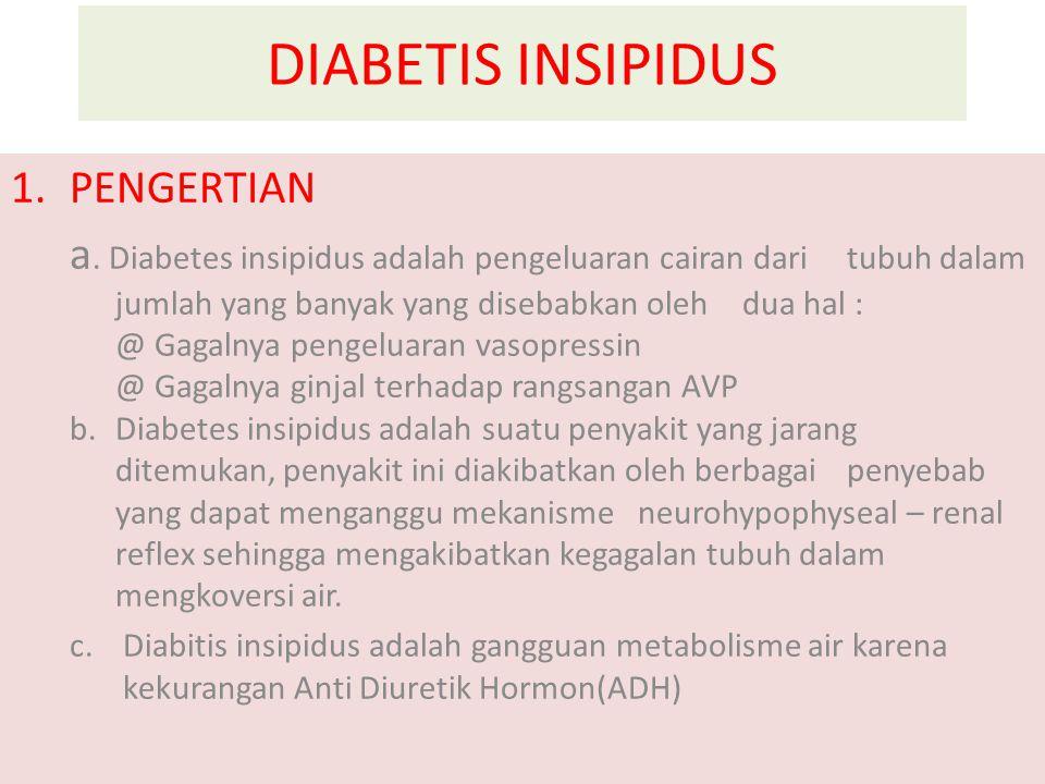DIABETIS INSIPIDUS 1.PENGERTIAN a.