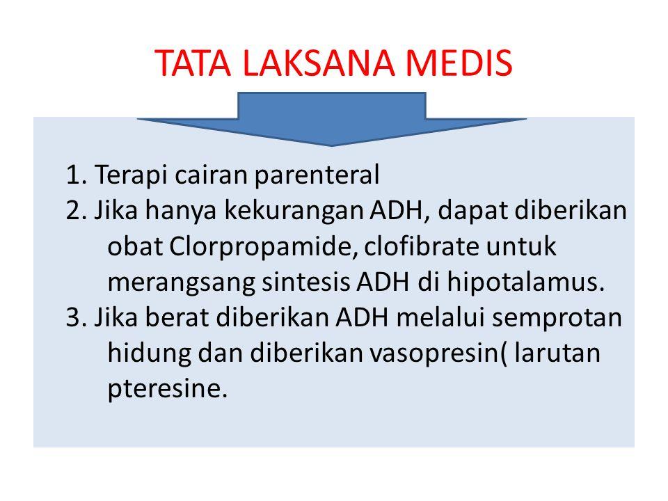 TATA LAKSANA MEDIS 1. Terapi cairan parenteral 2.
