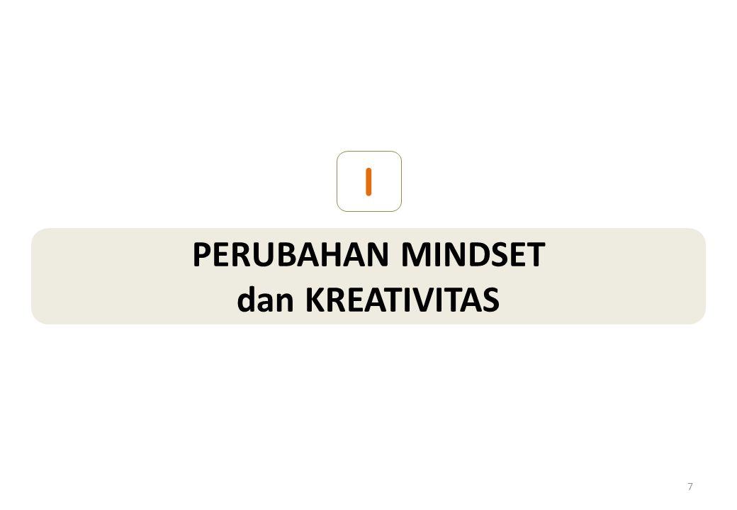 PERUBAHAN MINDSET dan KREATIVITAS I 7