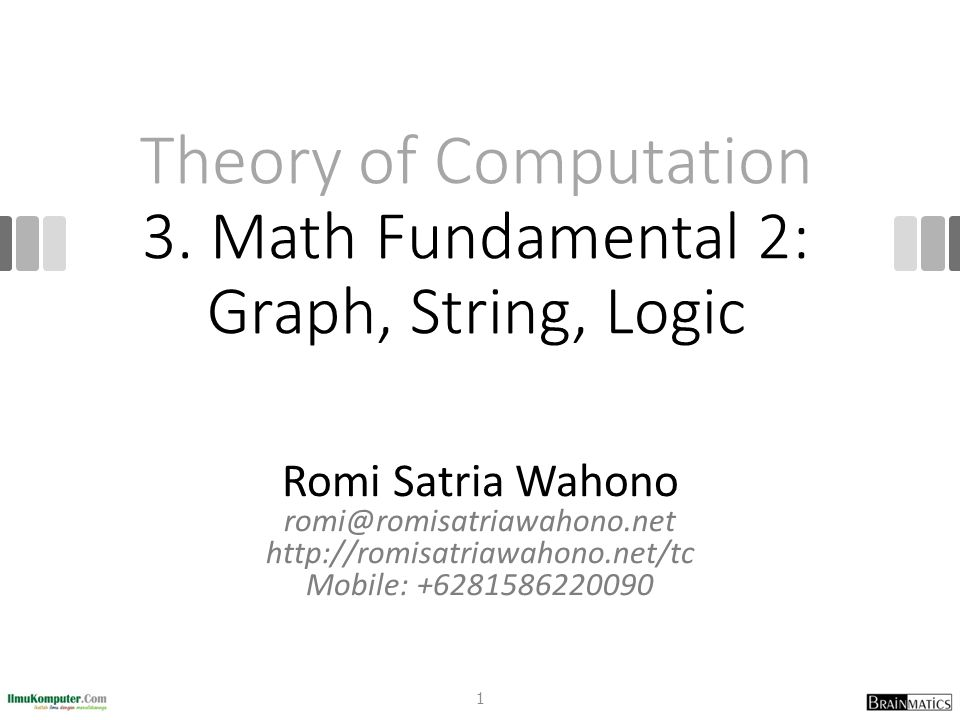 Graphs We can describe a graph with a diagram or more formally by specifying V and E A formal description of the graph in (a) is {1, 2, 3, 4, 5}, {(1, 2), (2, 3), (3, 4), (4, 5), (5, 1)} A formal description of the graph in (b) is {1, 2, 3, 4}, {(1, 2), (1, 3), (1, 4), (2, 3), (2, 4), (3, 4)} 12