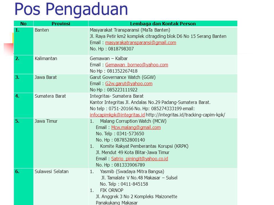7.Sulawesi Utara Yayasan Suara Nurani Minaesa – Sulut Jl.