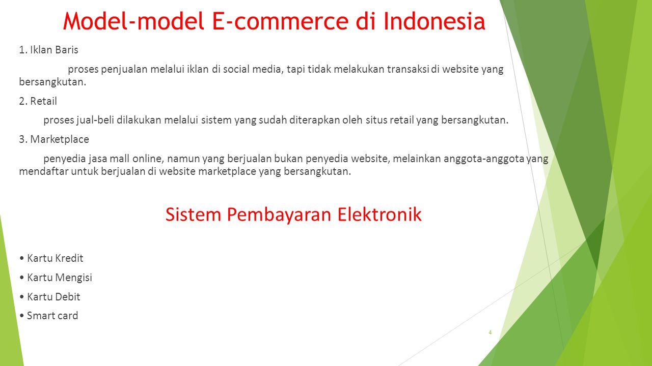 Model-model E-commerce di Indonesia 1.