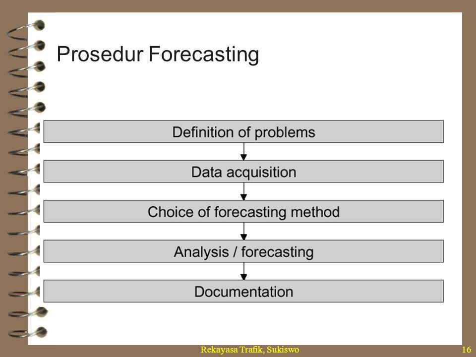 Rekayasa Trafik, Sukiswo16 Prosedur Forecasting