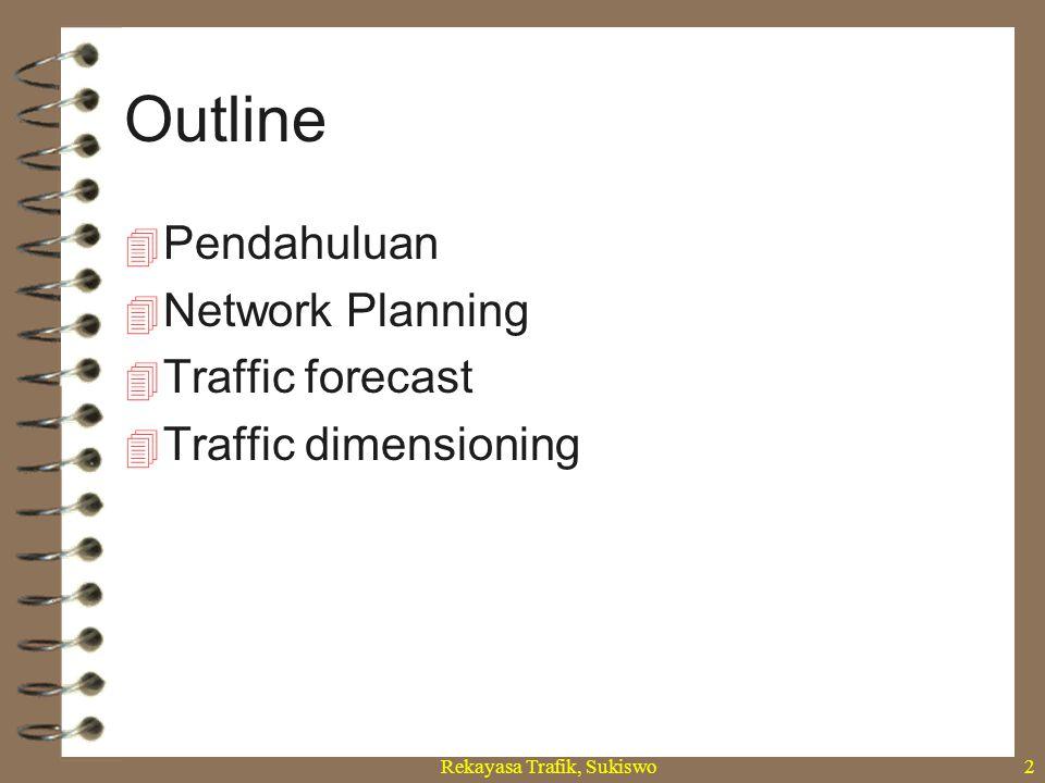 Rekayasa Trafik, Sukiswo2  Pendahuluan  Network Planning  Traffic forecast  Traffic dimensioning Outline