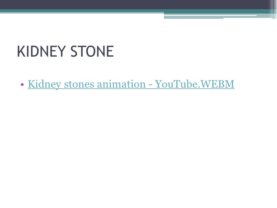 KIDNEY STONE Kidney stones animation - YouTube.WEBM