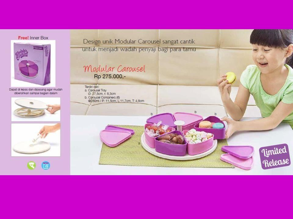 Info produk – Modular Carousel Wadah snack & cemilan di hari Raya Dilengkapi dengan tray yang dapat berputar, sehingga memudahkan saat mengambil isinya Terdapat 6 wadah dibagian atas, sehingga dapat menyajikan 6 jenis snack sekaligus
