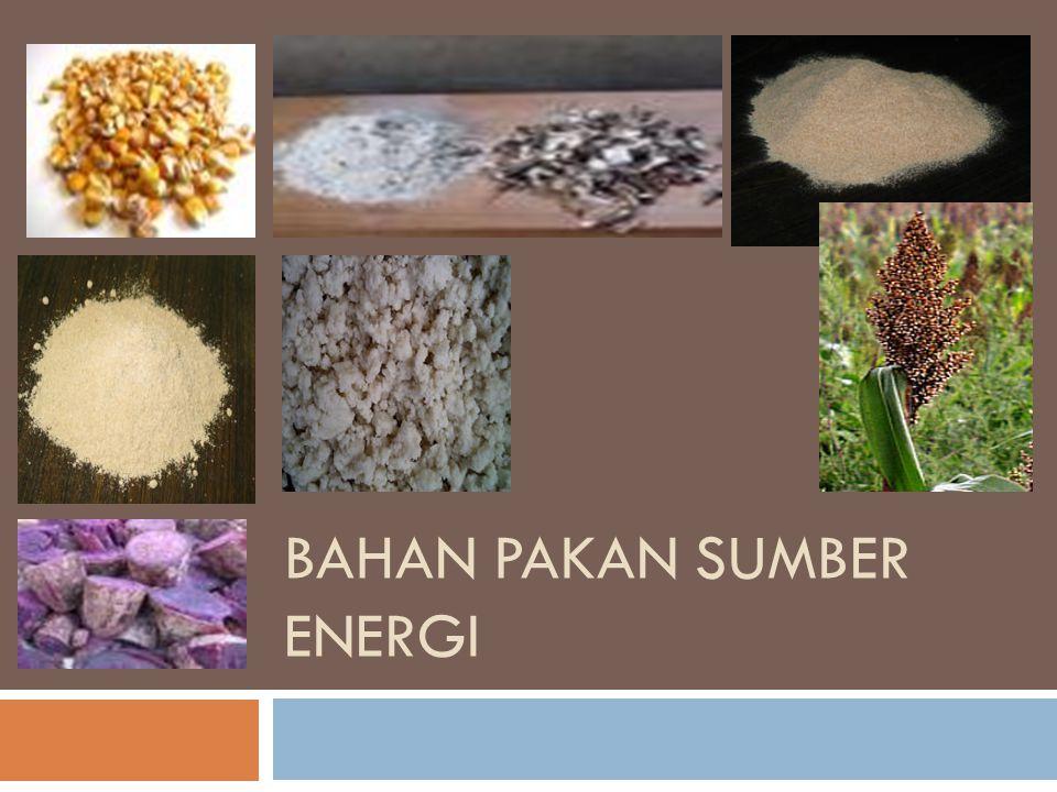 Konsentrat sumber energi  adalah bahan makanan ternak yang tinggi kandungan energi dan rendah kandungan serat kasar (<18%), serta umumnya mengandung protein yang lebih rendah dari 20%.