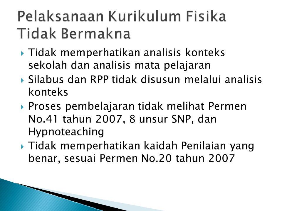  Analisis konteks sekolah  KTSP  Analisis konteks mata pelajaran  Silabus  RPP Yang baik dan benar ?