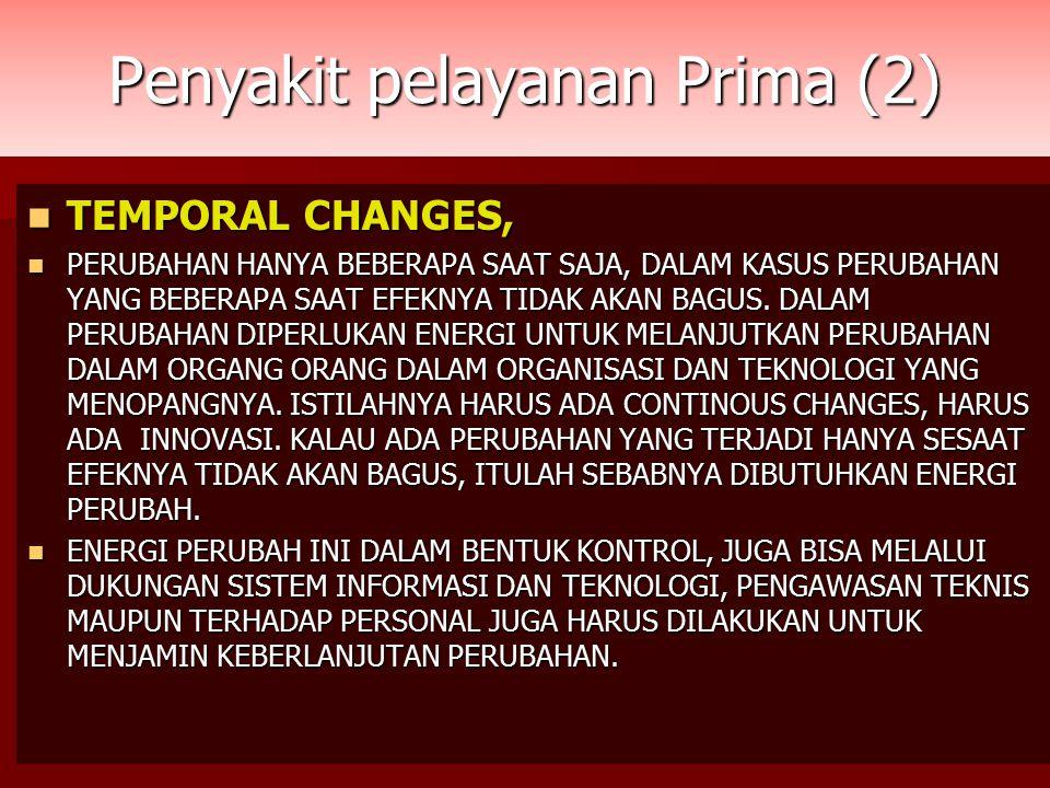 Penyakit pelayanan Prima (2) TEMPORAL CHANGES, TEMPORAL CHANGES, PERUBAHAN HANYA BEBERAPA SAAT SAJA, DALAM KASUS PERUBAHAN YANG BEBERAPA SAAT EFEKNYA