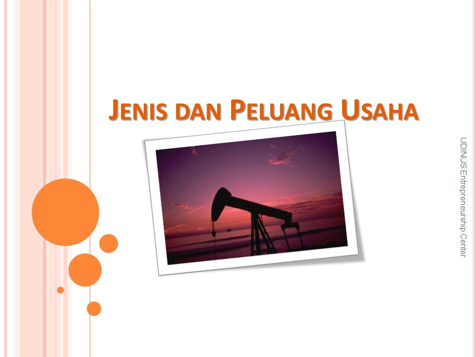 J ENIS DAN P ELUANG U SAHA UDINUS Entrepreneurship Center