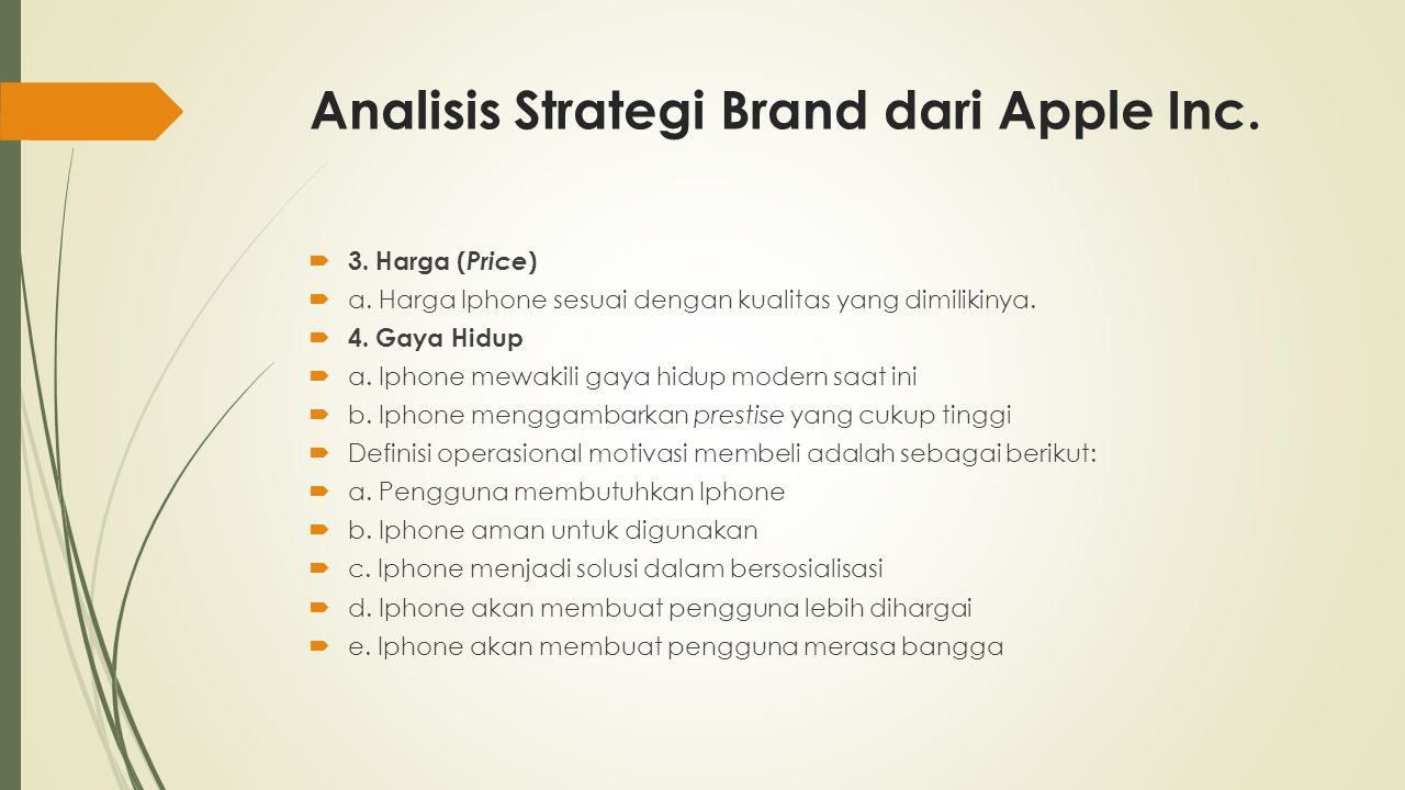 Analisis Strategi Brand dari Apple Inc. 3. Harga ( Price )  a.