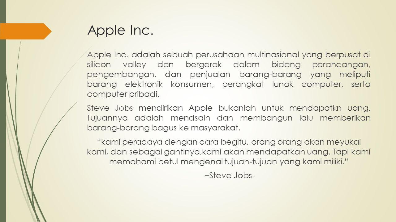 Produk-produk yang dipasarkan oleh Apple Inc.