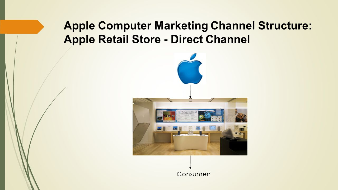 Apple Computer Marketing Channel Structure: Apple Retail Store - Direct Channel Consumen
