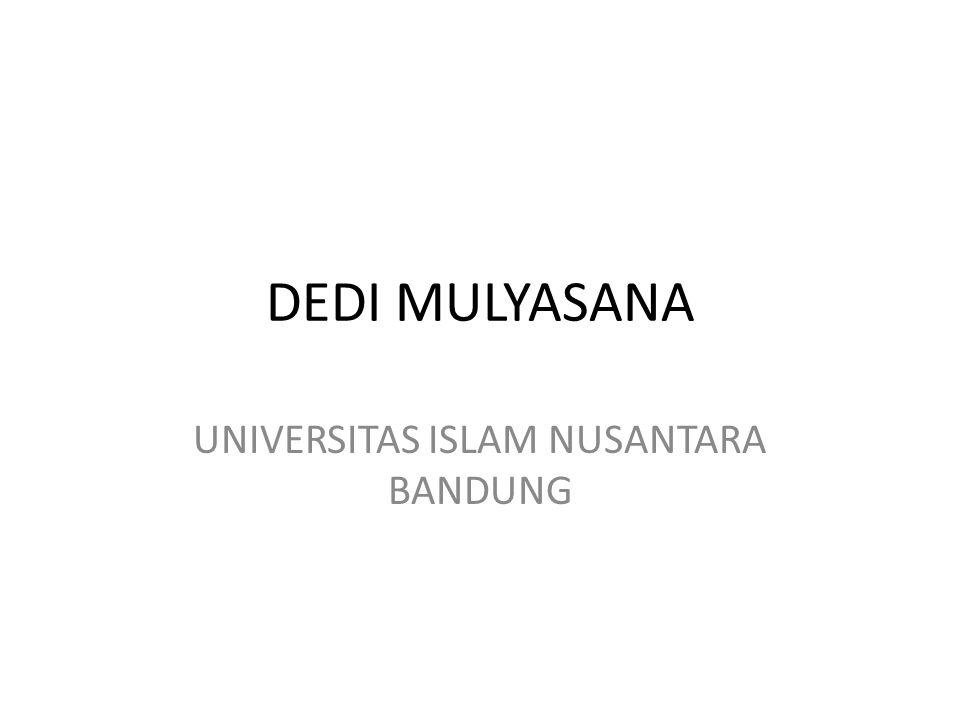 DEDI MULYASANA UNIVERSITAS ISLAM NUSANTARA BANDUNG