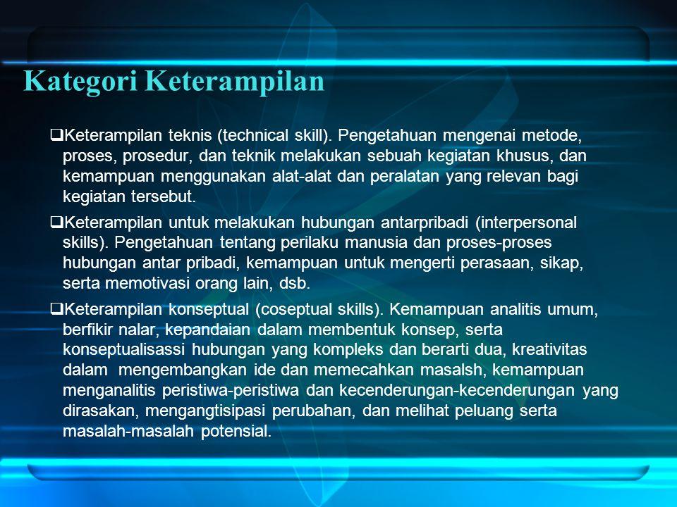  Keterampilan teknis (technical skill).