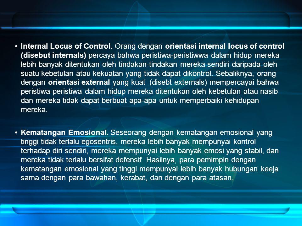 Internal Locus of Control.